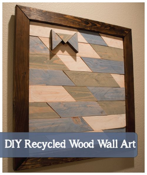 DIY Recycled Framed Wood Wall Art with Monogram (painted and stained ...
