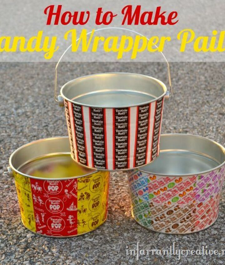 candy wrapper pails, crafts