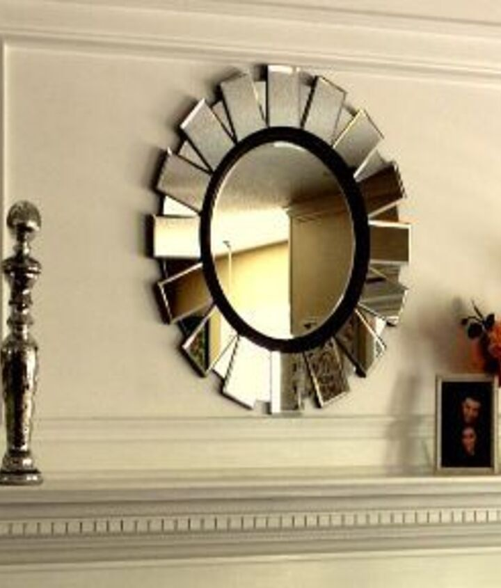 This is an up-close view of the fireplace overmantle that my husband & I built