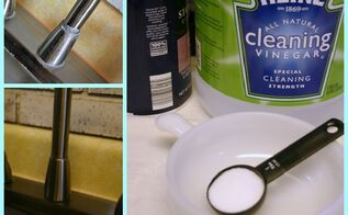 get rid of lime deposits, cleaning tips, Befores and Afters