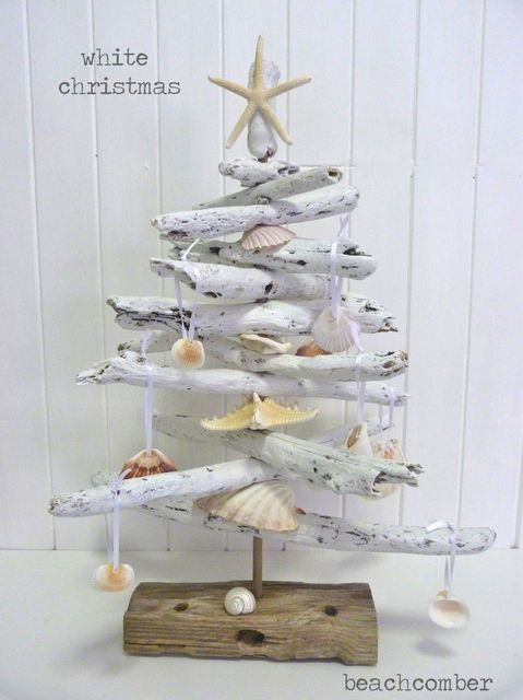 driftwood christmas trees christmas decorations seasonal holiday decor white coastal christmas
