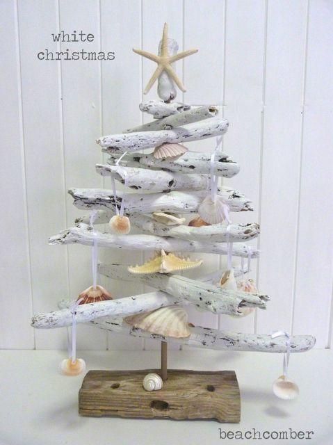 driftwood christmas trees christmas decorations seasonal holiday decor white coastal christmas