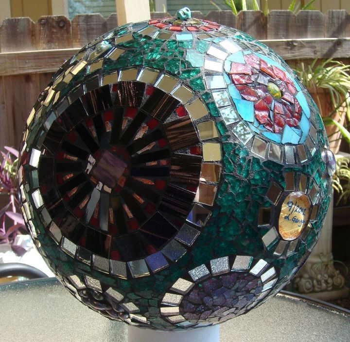 Other side of gazing ball
