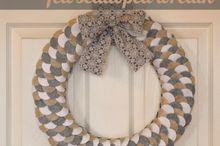 felt wreath, crafts, wreaths