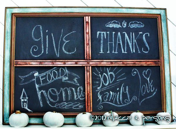 DIY Chalk Board with chalk lettering