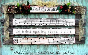 deck the halls pallet art for christmas, christmas decorations, pallet, seasonal holiday decor