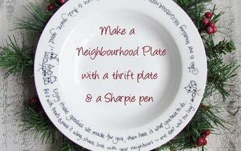 Make a Neighbourhood Plate with a Sharpie pen