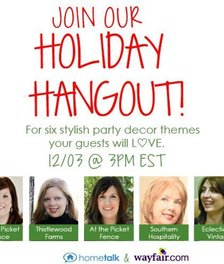 These lovely ladies will be joining us to share their holiday party decor ideas, and how you can do them at home!