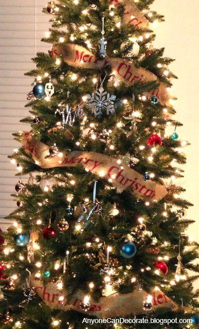 diy burlap christmas tree garland, christmas decorations, crafts, seasonal  holiday decor - DIY Burlap Christmas Tree Garland Hometalk