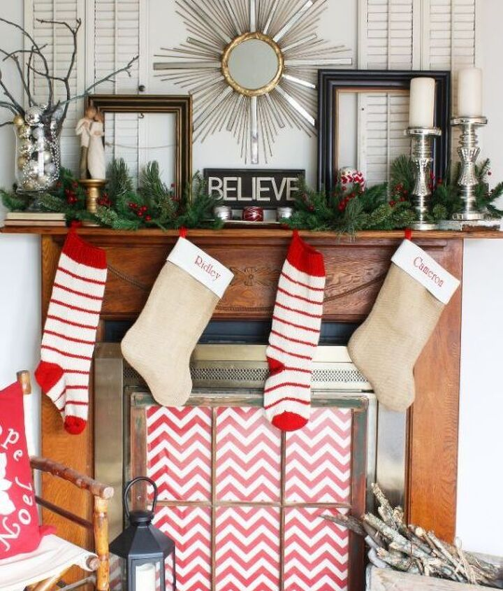 Collected Christmas Mantel