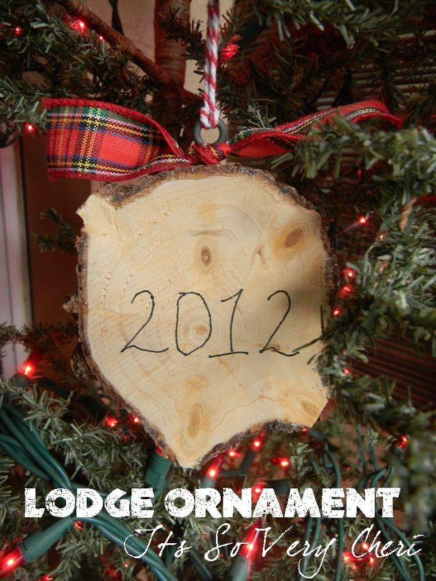 lodge ornaments christmas decorations crafts seasonal holiday decor