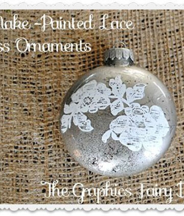 Painted Lace Ornament