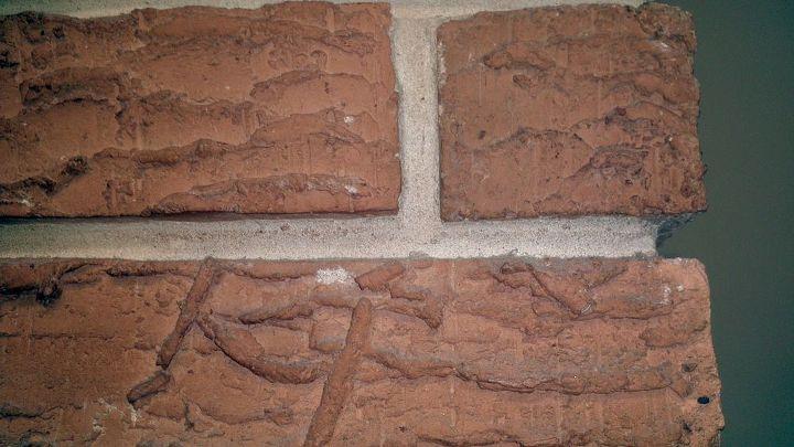 Orange rough brick