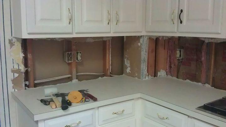q help cement board sheetrock more drywall for tiling kitchen backsplash, home maintenance repairs, kitchen backsplash, kitchen design, tiling