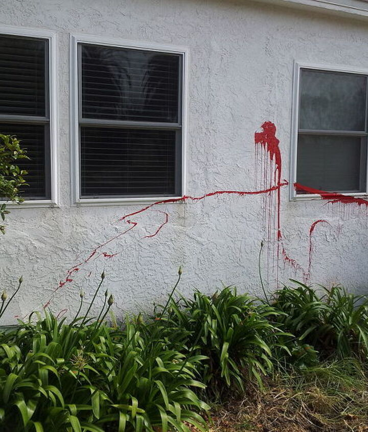 q how to cover graffiti on stucco, curb appeal, home maintenance repairs, how to, paint colors, painting, wall decor
