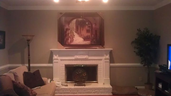 q is this picture too big for the space seeking a little design advice, home decor