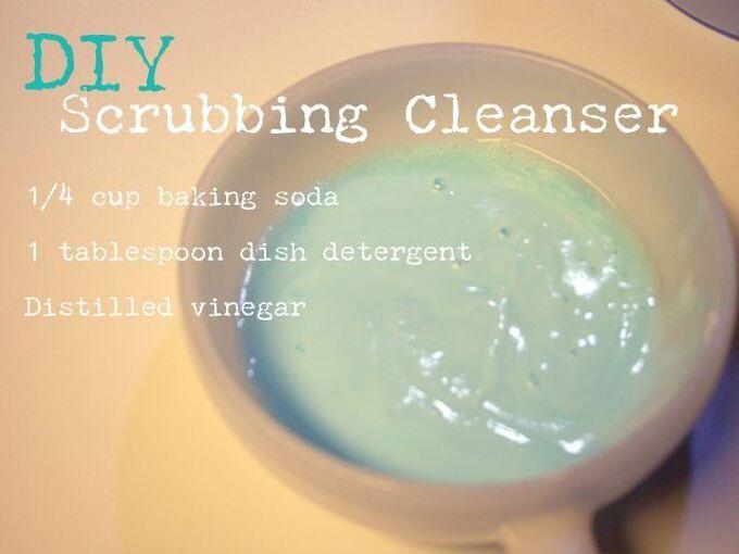 diy scrubbing cleanser, cleaning tips, DIY Scrubbing Cleanser Paste