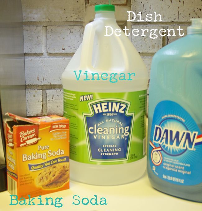 The three ingredients needed to make your own scrubbing cleanser.