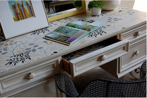 Diy project of the week wallpaper your furniture hometalk diy project of the week wallpaper your furniture home decor painted furniture make sisterspd