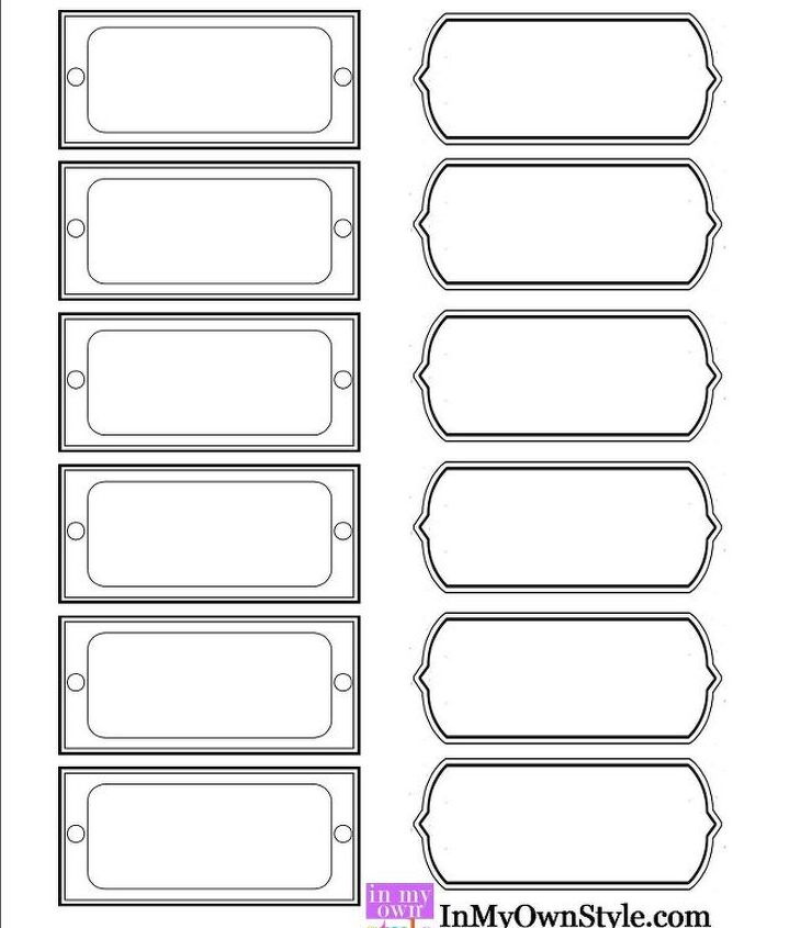 Free printable labels to download.  http://inmyownstyle.com/2013/01/the-container-store-knock-off-magazine-files.html