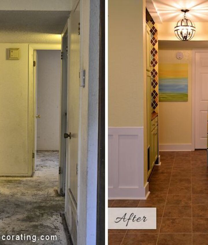 "Before and after of my small condo hallway / laundry ""room"""