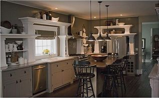 open shelving in kitchen is it right for you, home decor, kitchen design, kitchen island, shelving ideas, storage ideas, our kitchen with open shelving for display