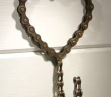 heart shaped bike chain hook, repurposing upcycling
