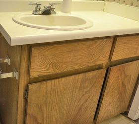 Bathroom Vanity Makeover, Bathroom Ideas, Countertops, Woodworking  Projects, The Bathroom Vanity Before