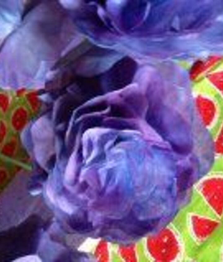 Purple Dyed Coffee Filter Flower