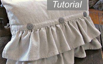 ruffled pillow tutorial, crafts