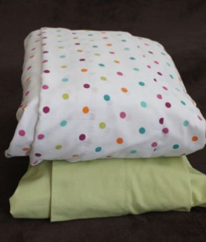 Just slip folded flat, fitted and any extra pillowcases inside the main pillowcase for a neat packet where everything is together and easy to find.
