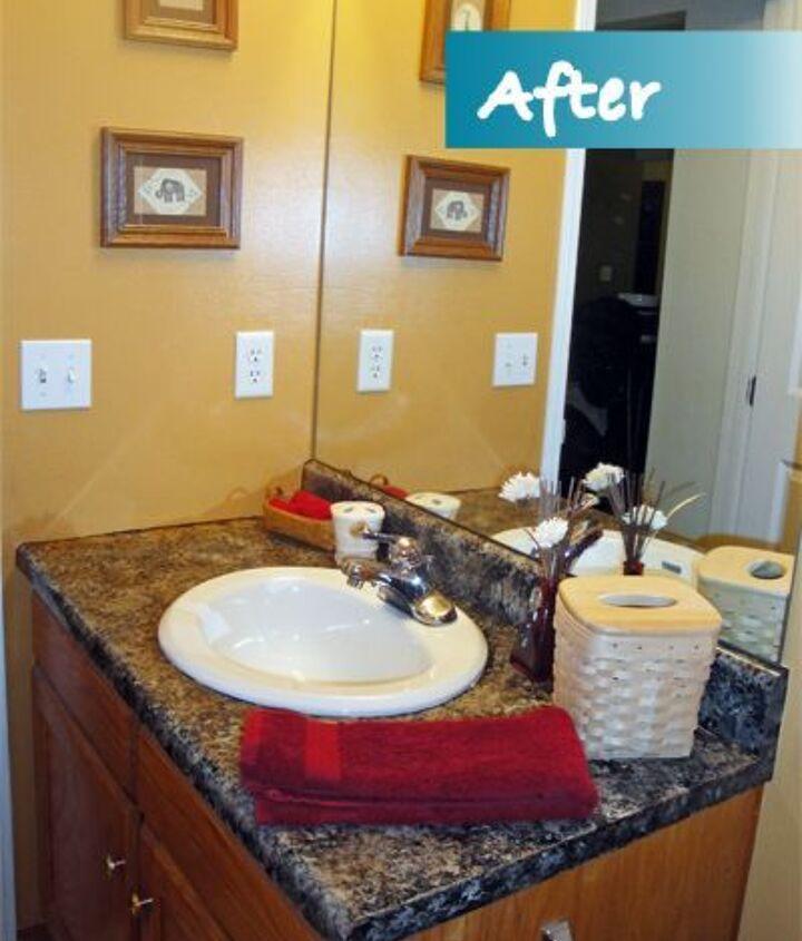 diy countertop upgrade, bathroom ideas, countertops, painting