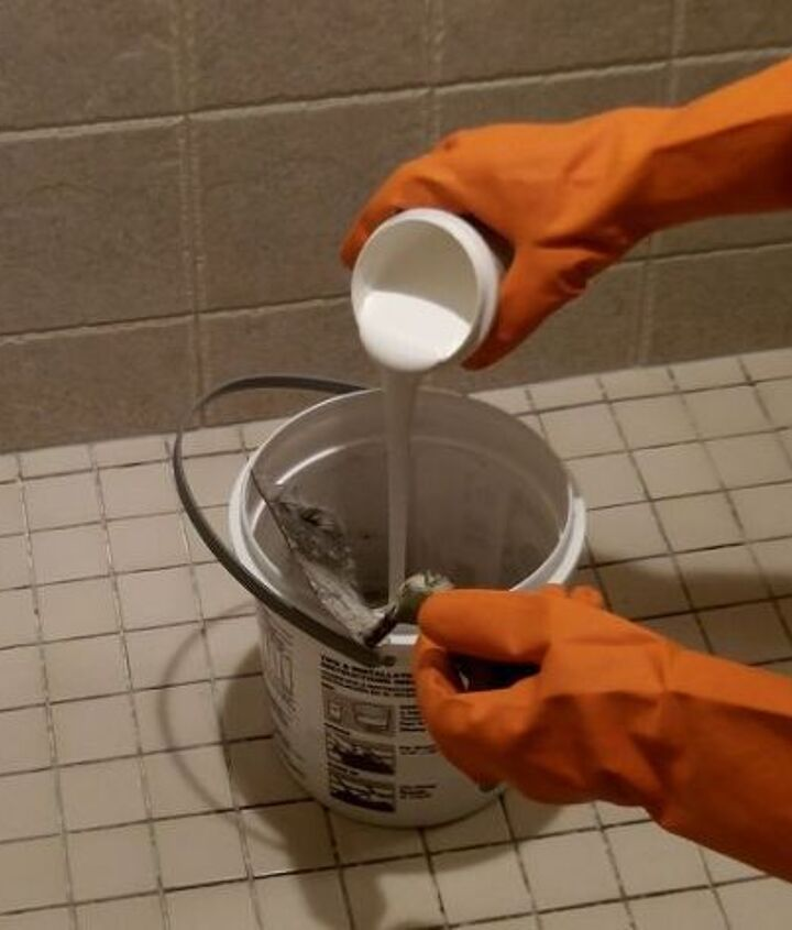 Epoxy grout has a Part A and Part B.