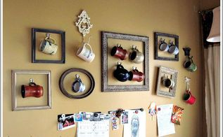 coffee cup gallery wall displaying collections, home decor