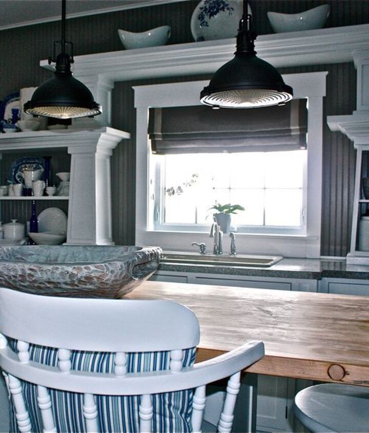 the island with the top refinished brightens up the space.