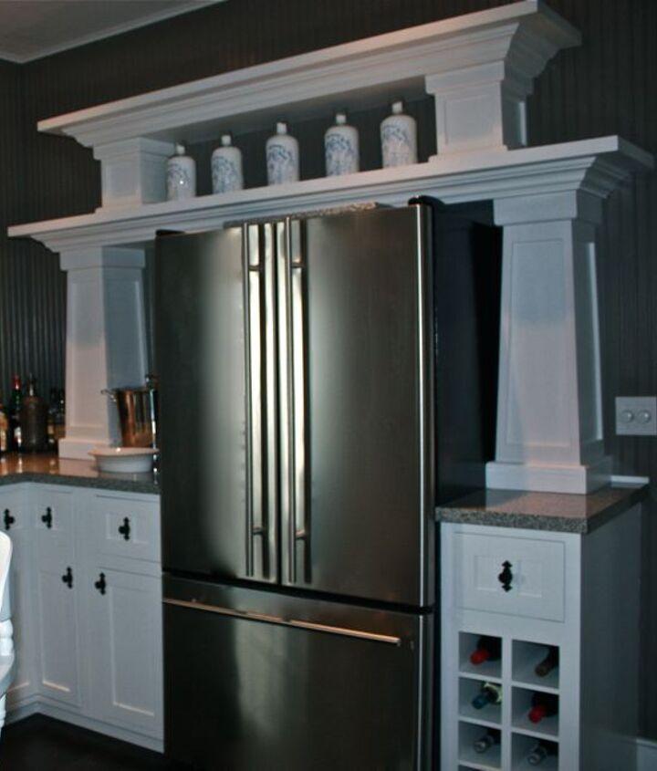 lightened and brightened kitchen, home decor, kitchen design, kitchen island, shelving ideas