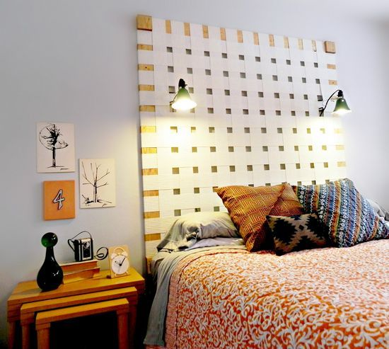 Love the new look!  http://www.madincrafts.com/2013/03/diy-woven-headboard-from-upcycled.html