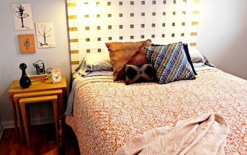 diy woven headboard from vertical blinds, bedroom ideas, home decor, repurposing upcycling, This giant woven headboard was made with old vertical blinds