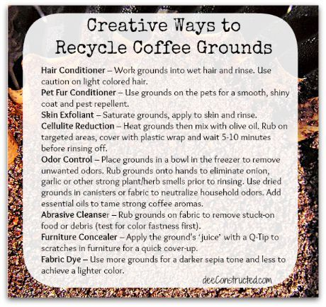 creative uses for coffee grounds, cleaning tips, Creative uses for coffee and espresso grounds