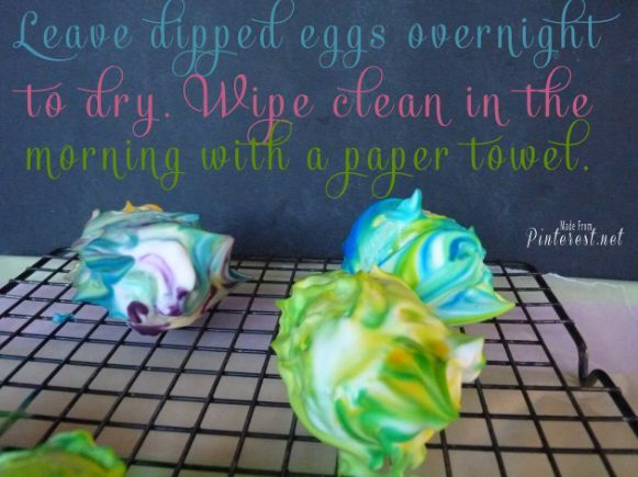 shaving cream marbled easter eggs, crafts