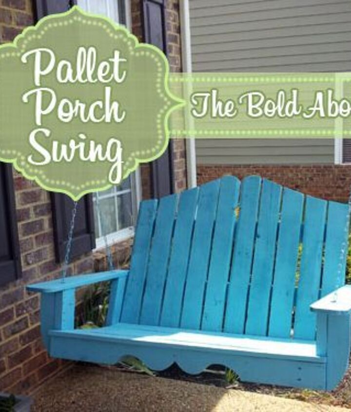 Pallet Porch Swing created from an ordinary swing plan with just a few customizations.