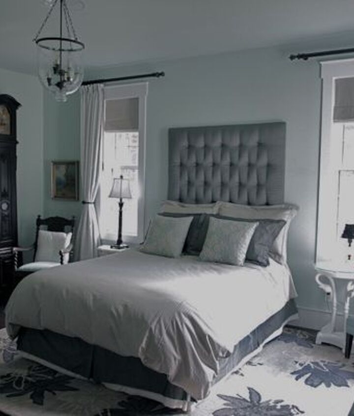 master bedroom in icy blue, bedroom ideas, home decor