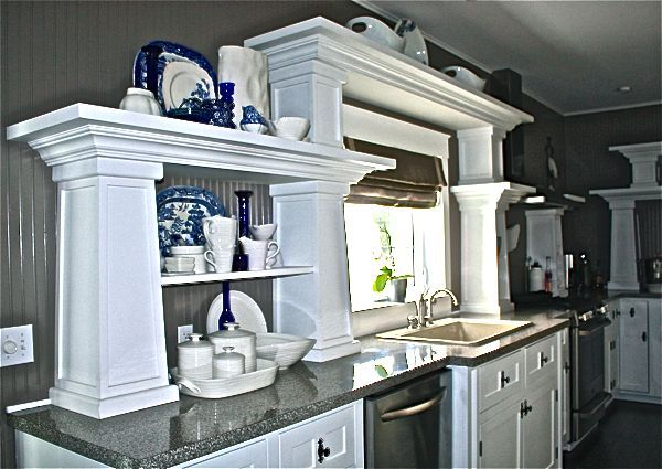 A great way to upgrade laminate is to use a flat edge... gives the look of granite. to see more of our home http://cynthiaweber.com/hoop-top-house/