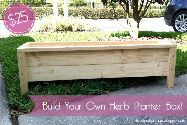 diy herb planter box 25, diy, gardening, woodworking projects