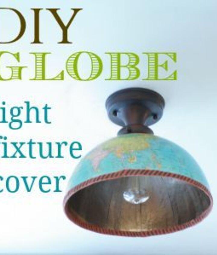 DIY globe light fixture cover
