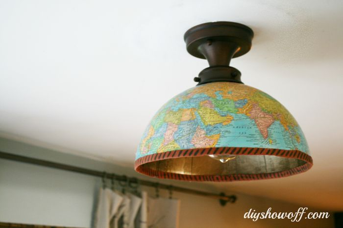 thrifty diy shade replacement using a globe, diy, how to, lighting,  repurposing