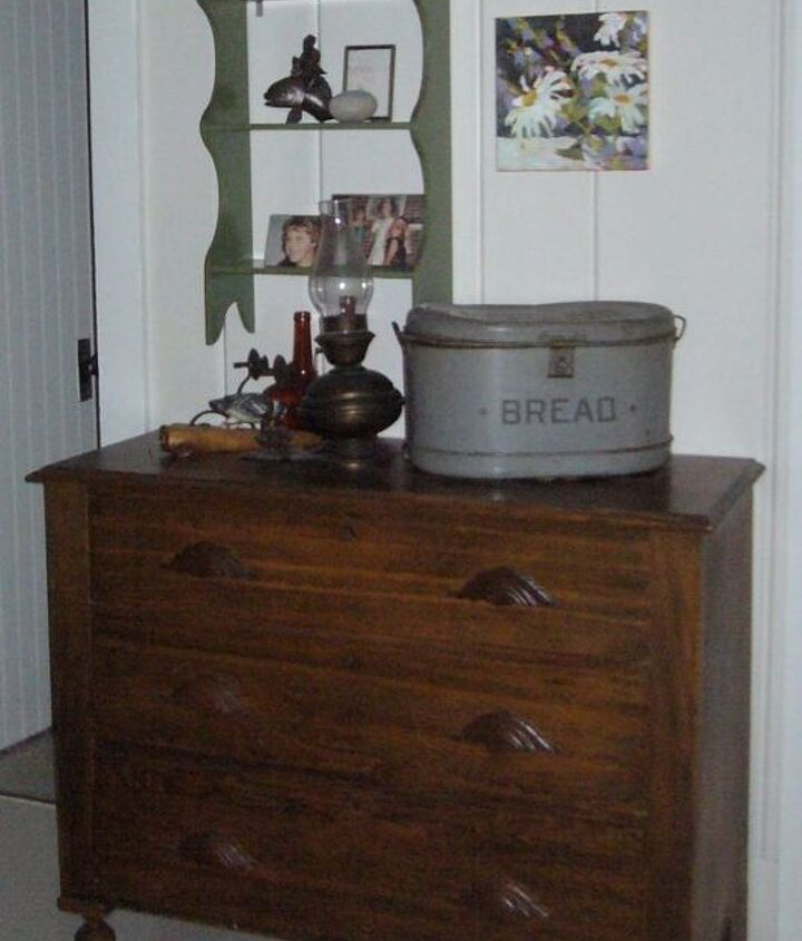 This great family dresser has a new life with the light painted wall behind it.