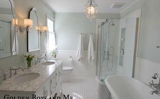 diy master bathroom, bathroom ideas, diy, home decor, home improvement, The space was originally 2 separate rooms a tiny toilet shower single sink and a vanity area We removed the wall and 2 closets to make one open space
