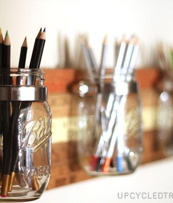 diy mason jar storage tutorial using vintage yardsticks, crafts, mason jars, repurposing upcycling