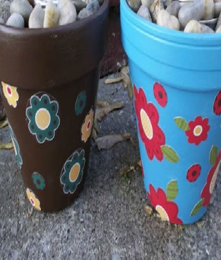 Decorate a Terra Cotta or other fireproof pot.